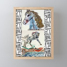 Girls & Horses II Framed Mini Art Print