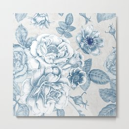 Blue Flower Anely Metal Print