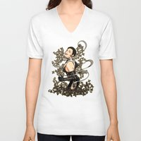 gothic V-neck T-shirts featuring Gothic by Benimarudo