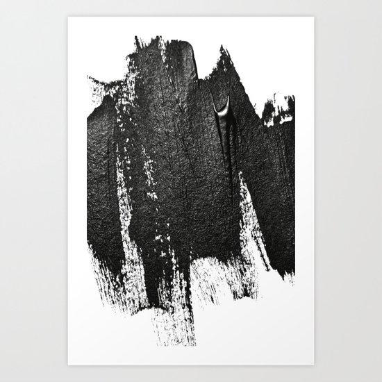 CONFIDENT - black , with no background Art Print