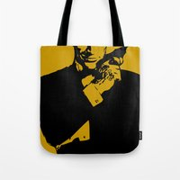 james bond Tote Bags featuring James Bond 007 by Walter Eckland