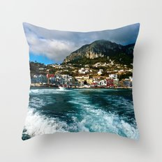 Leaving Behind the Coast of Amalfi  Throw Pillow