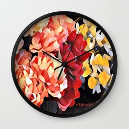 Peaches and Cream Floral Bouquet Wall Clock
