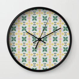 Tile pattern_1 Wall Clock
