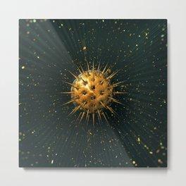 Abstract Dark Sphere Metal Print