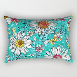 White daisies Rectangular Pillow