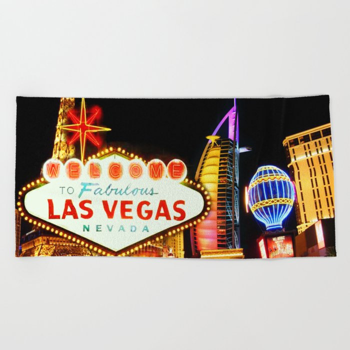 Living Las Vegas 2 Beach Towel By