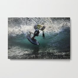 Siver Surfer big spray Metal Print