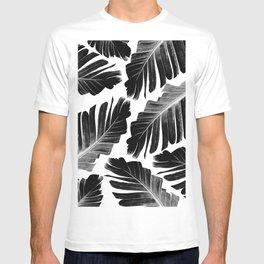 Tropical Black Banana Leaves Dream #1 #decor #art #society6 T-shirt