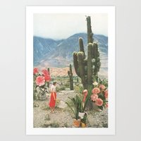 cactus Art Prints featuring Decor by Sarah Eisenlohr