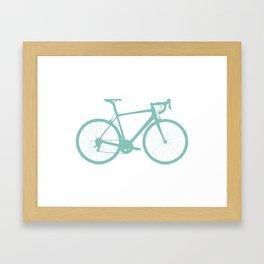 Blue bike Framed Art Print