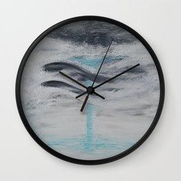"""Wind And Water"" Painting1of 2 - Elements Series Wall Clock"
