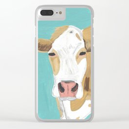 A Cow Named Cross Clear iPhone Case