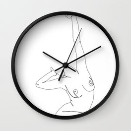 Life drawing illustration - Louie Wall Clock