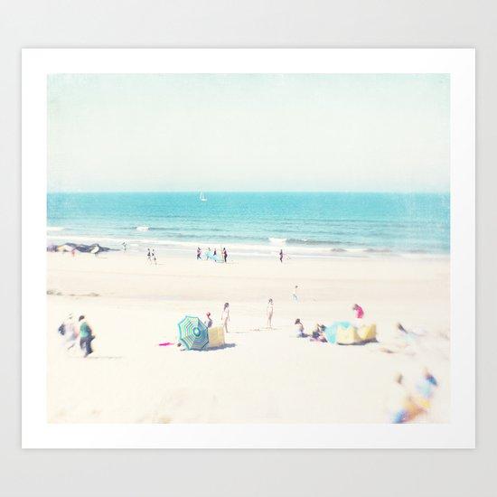 beach - happy life Art Print