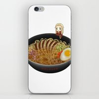 ramen iPhone & iPod Skins featuring Thranduil Ramen by Sabinzie