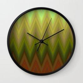 zig zag chevron classic pattern Wall Clock