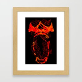 Chaos and Clarity ~ Red Framed Art Print