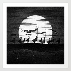 Drawlloween 2015: Moon Art Print