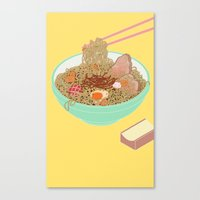 ramen Canvas Prints featuring Ramen! by Edge