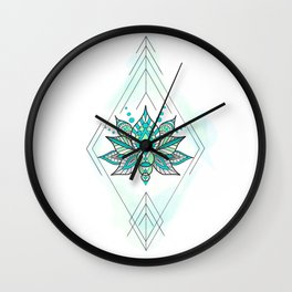 Geo Lotus Wall Clock