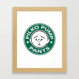 Pilko Pump Pants - Karl Pilkington Starbucks Framed Art Print