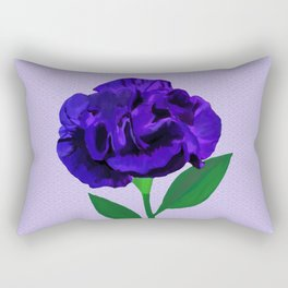 Bloomin' Violet on Lilac Rectangular Pillow