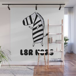 Later Hater Zebra Wall Mural