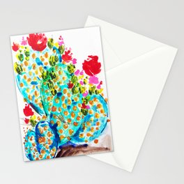 Blue Cactis Stationery Cards