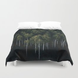 Aerial Photograph of a pine forest in Germany - Landscape Photography Duvet Cover