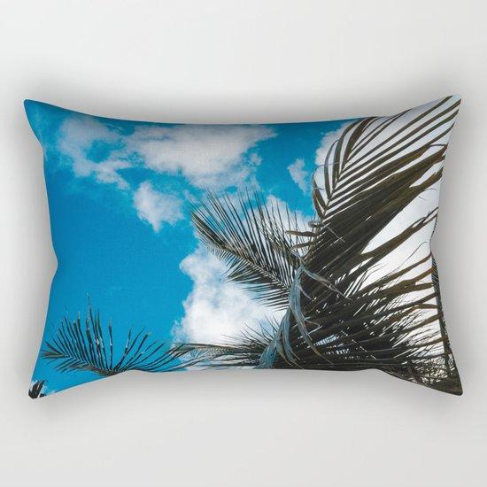 Sky behind the trees Rectangular Pillow