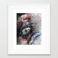 gladiator Framed Art Prints featuring Gladiator by Tania Richard