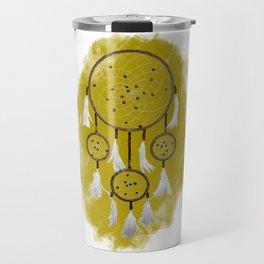 Classic Dreamcatcher: Sand background Travel Mug