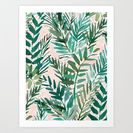 LUSH BLUSH Sunset Palms Art Print