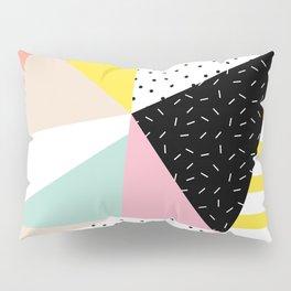 80s Retro Geometric Pattern Pillow Sham