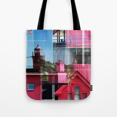 Lighthouse at Holland Park MI Tote Bag