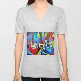 Fancy Guitars Unisex V-Neck