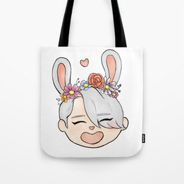 spring bunny victor Tote Bag