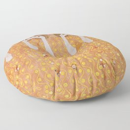 Beethoven Frieze by Gustav Klimt Floor Pillow