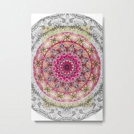 mandala pink colorfull Metal Print