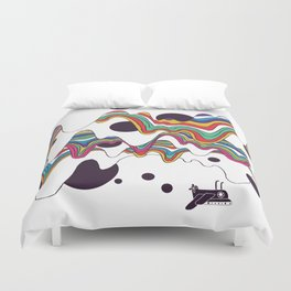 Psychedelic Planet Duvet Cover