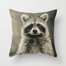 RACCOON PORTRAIT Throw Pillow