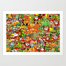 In Christmas melt into the crowd and enjoy it Art Print