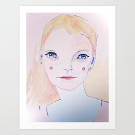 Mia Farrow Art Print