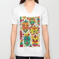 tiki V-neck T-shirts featuring Tiki tiki by Binnyboo