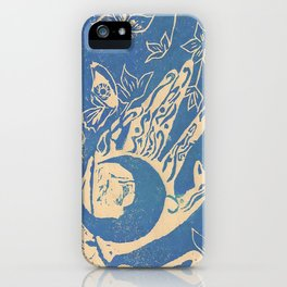Show me how to live in blue iPhone Case
