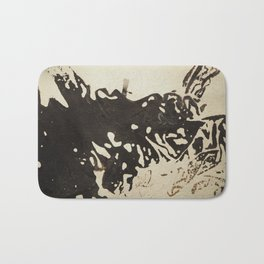 Ink drawing - abstract pattern Bath Mat