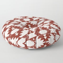 Bright red and white brushed tribal kilim pattern Floor Pillow