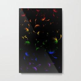 Dandelion Seeds Gay Pride (black background) Metal Print