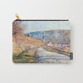 1879-Claude Monet-The Road to Vétheuil-23 x 28 Carry-All Pouch